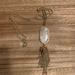 Kendra Scott Gold and White Rayne Necklace